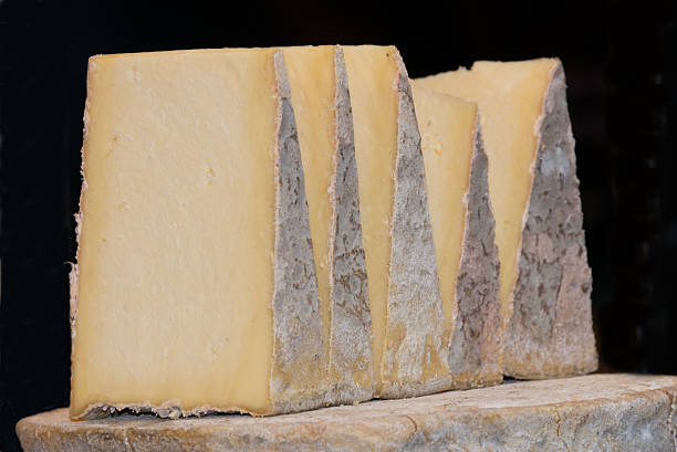 Caerphilly Cheese Wedges Wedges of Caerphilly Cheese welsh culture stock pictures, royalty-free photos & images
