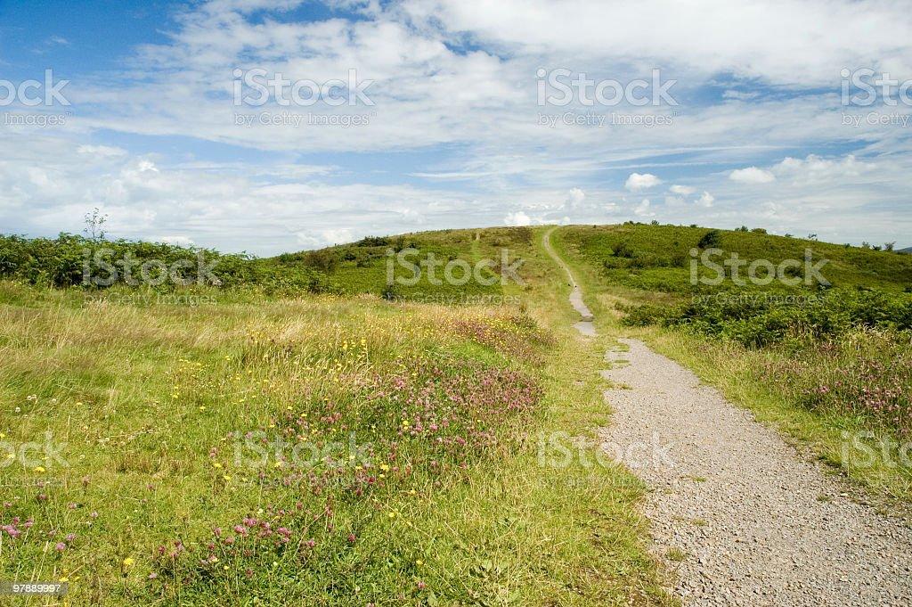 Caerphilly mountain royalty-free stock photo