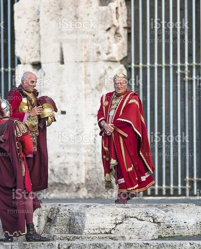 Caesar and centurions royalty-free stock photo
