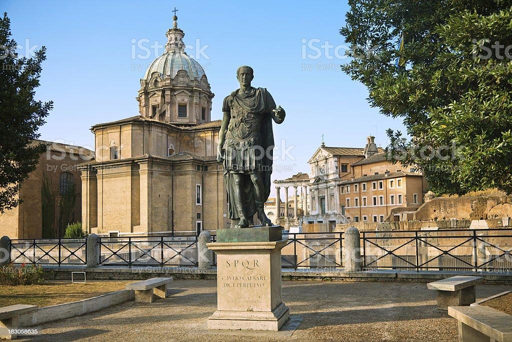 Caesar and Roman Forum stock photo