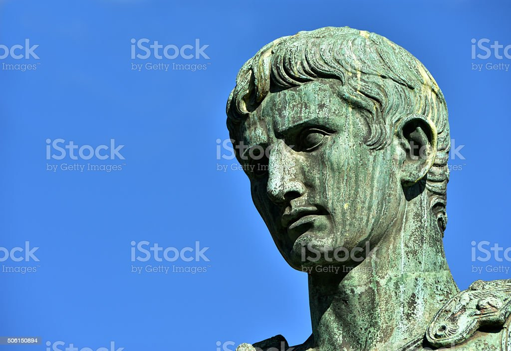 Caesar Augustus, first emperor of Rome stock photo