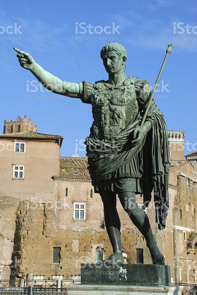Caesar Augustus stock photo