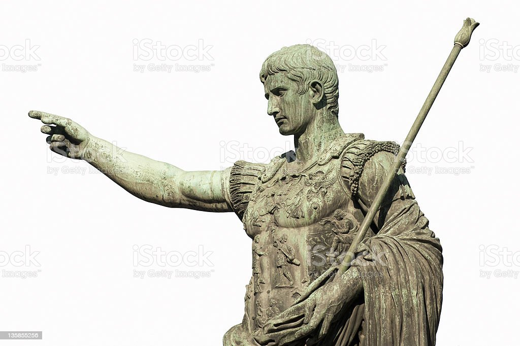 Caesar Augustus Rome stock photo