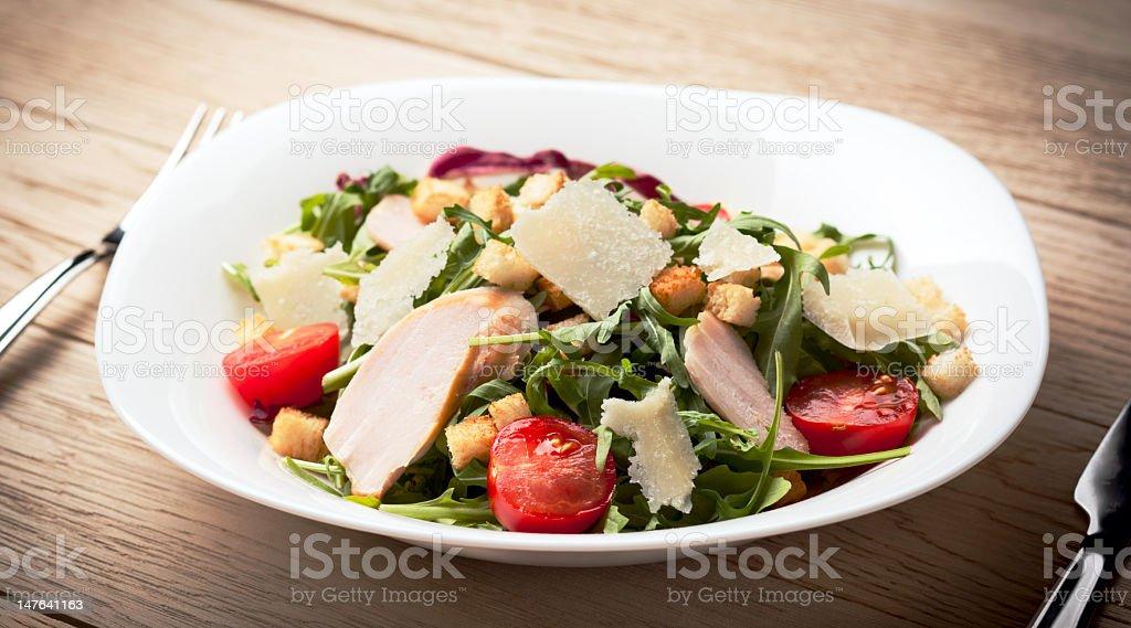 Caesar chicken fillet salad stock photo
