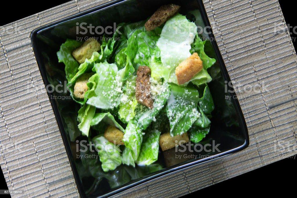 caesar salad abstract stock photo