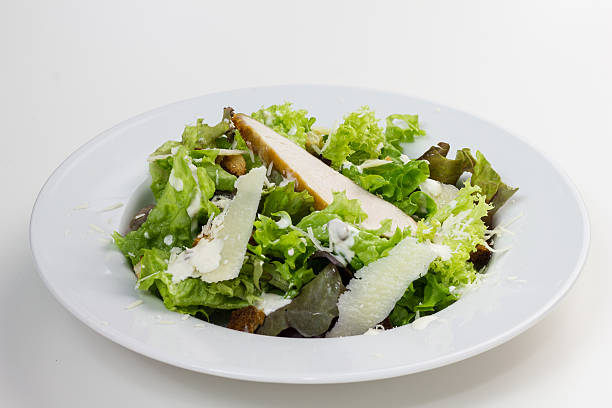 Caesar salad. stock photo