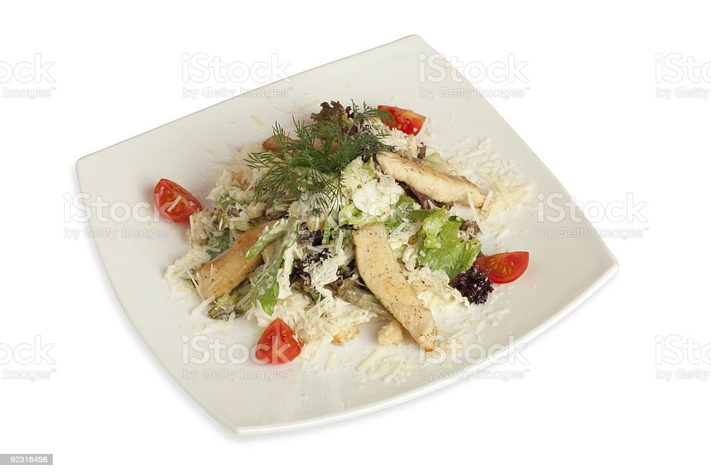 Caesar salad (isolated with clipping) royalty-free stock photo