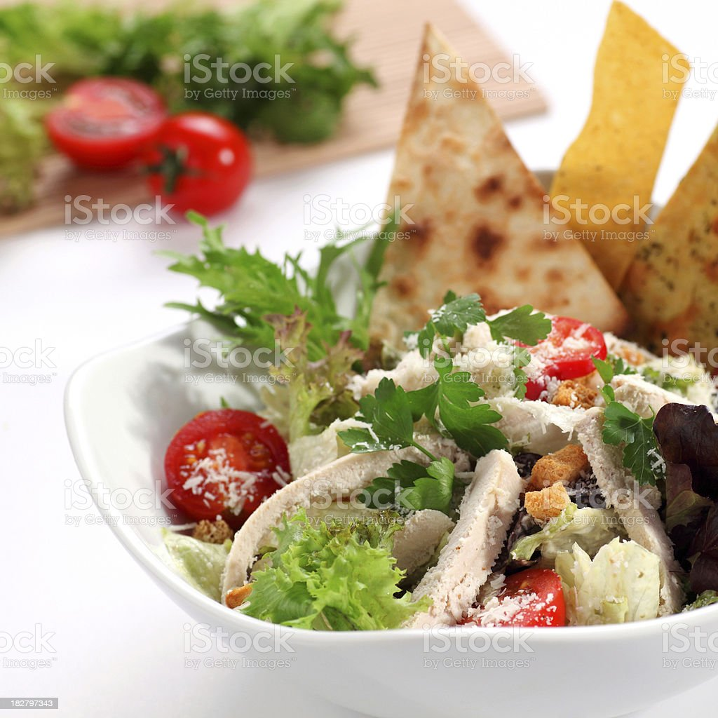 Caesar Salad with Chicken royalty-free stock photo