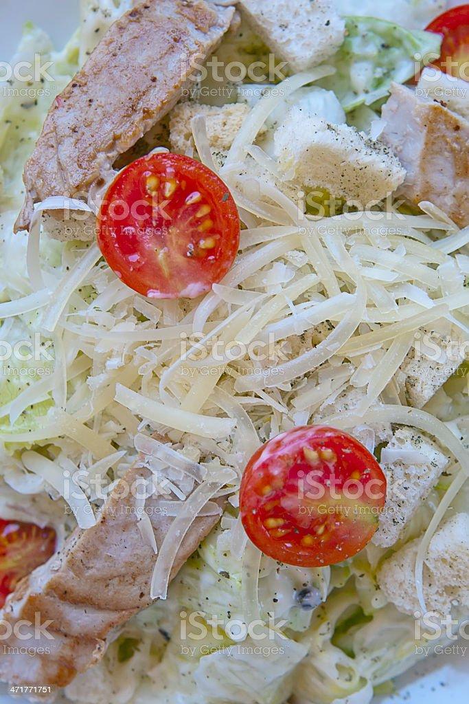 caesar salad with tuna royalty-free stock photo