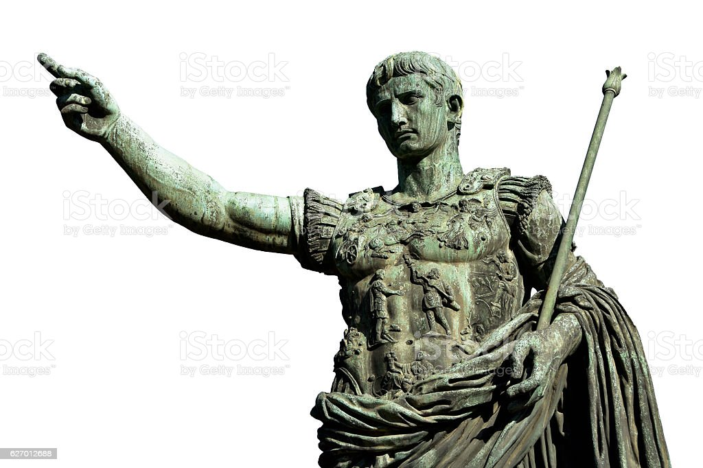 Caesara Augustus, the first emperor of Ancient Rome stock photo
