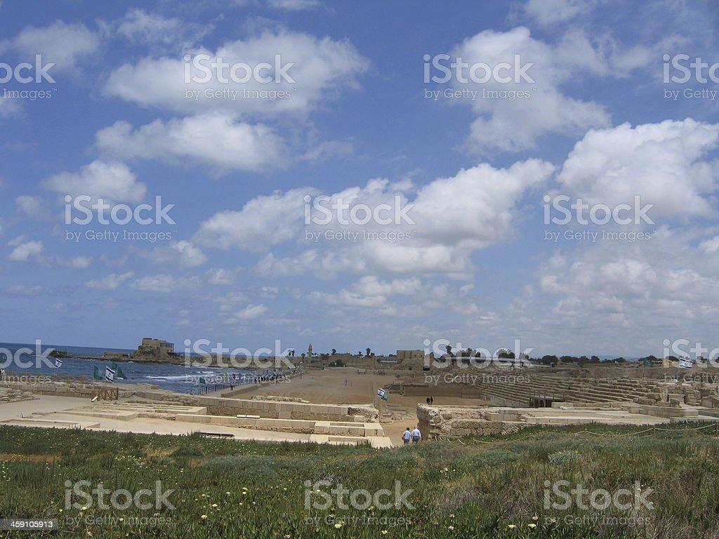 Caesarea, Israel stock photo