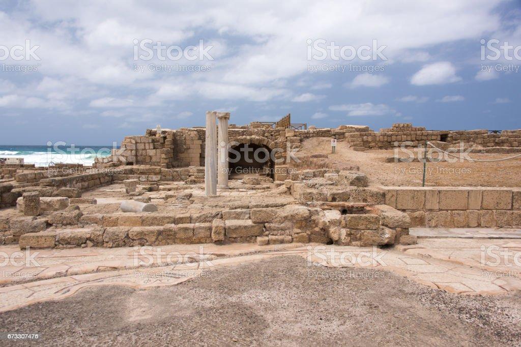 Caesarea, ISRAEL royalty-free stock photo