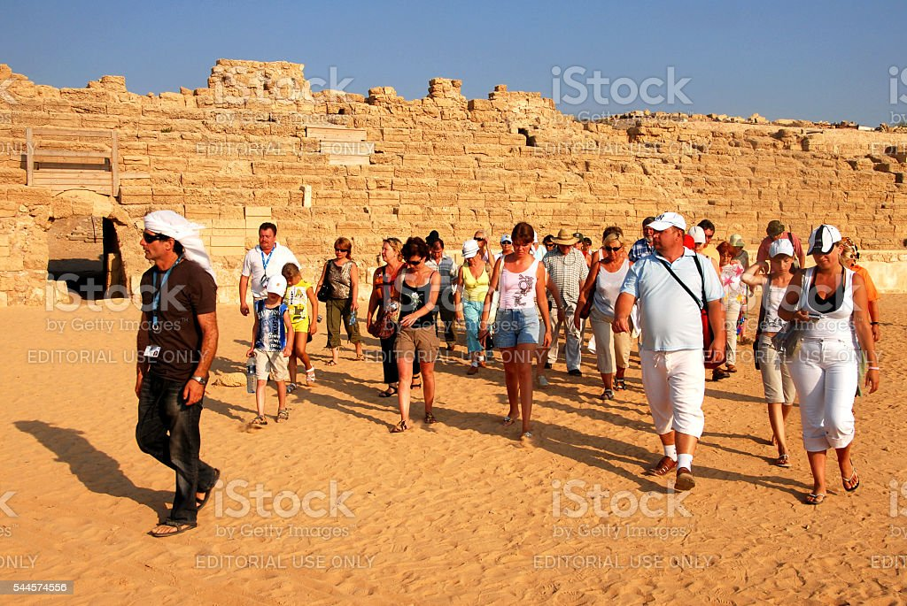 Caesarea Maritima - Israel stock photo