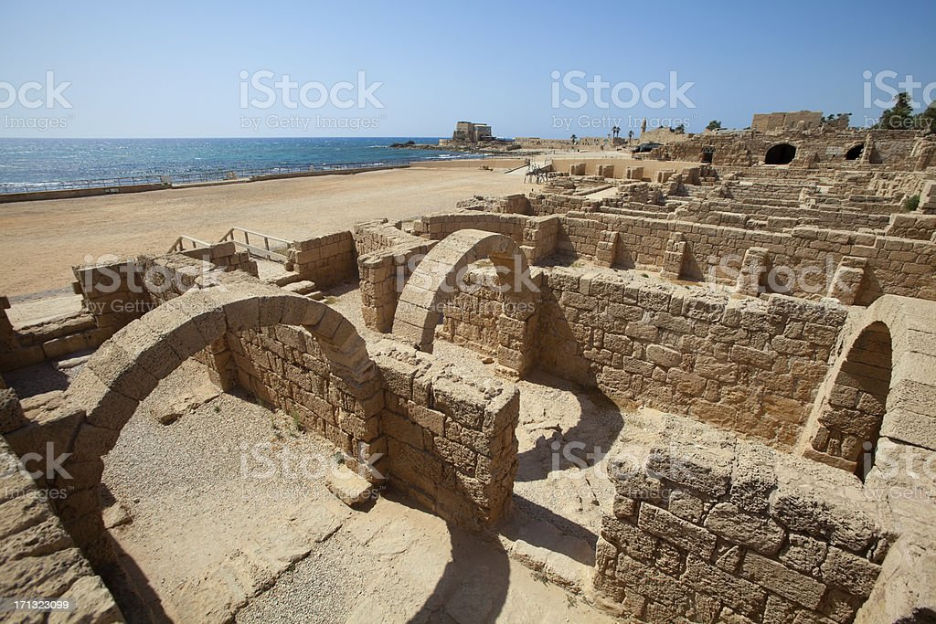 Caesarea National Park, Israel stock photo