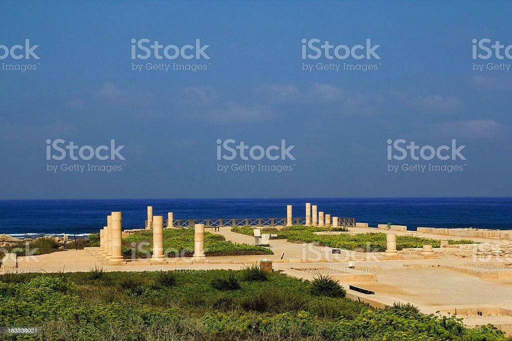 Caesarea´s National Park in Israel stock photo