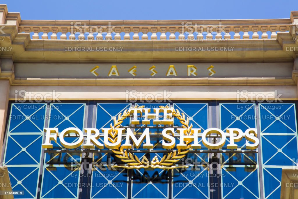 Caesars Palace Forum Shops Daytime stock photo