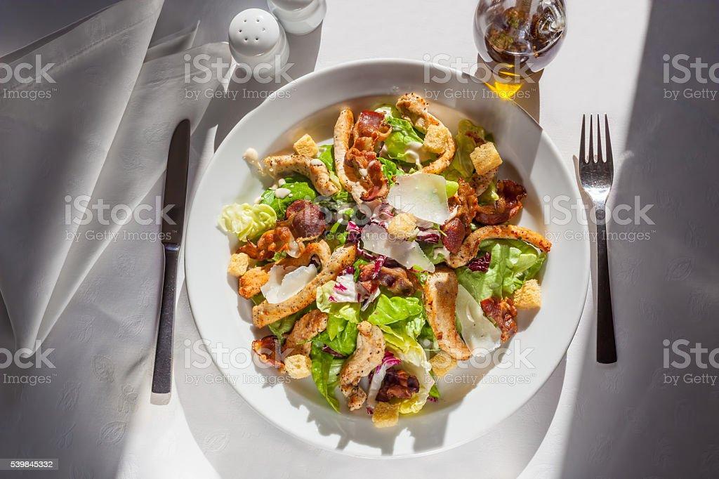 Caesar`s salad stock photo