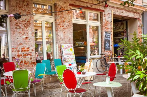 Café and shop in Prenzlauer Berg, Berlin