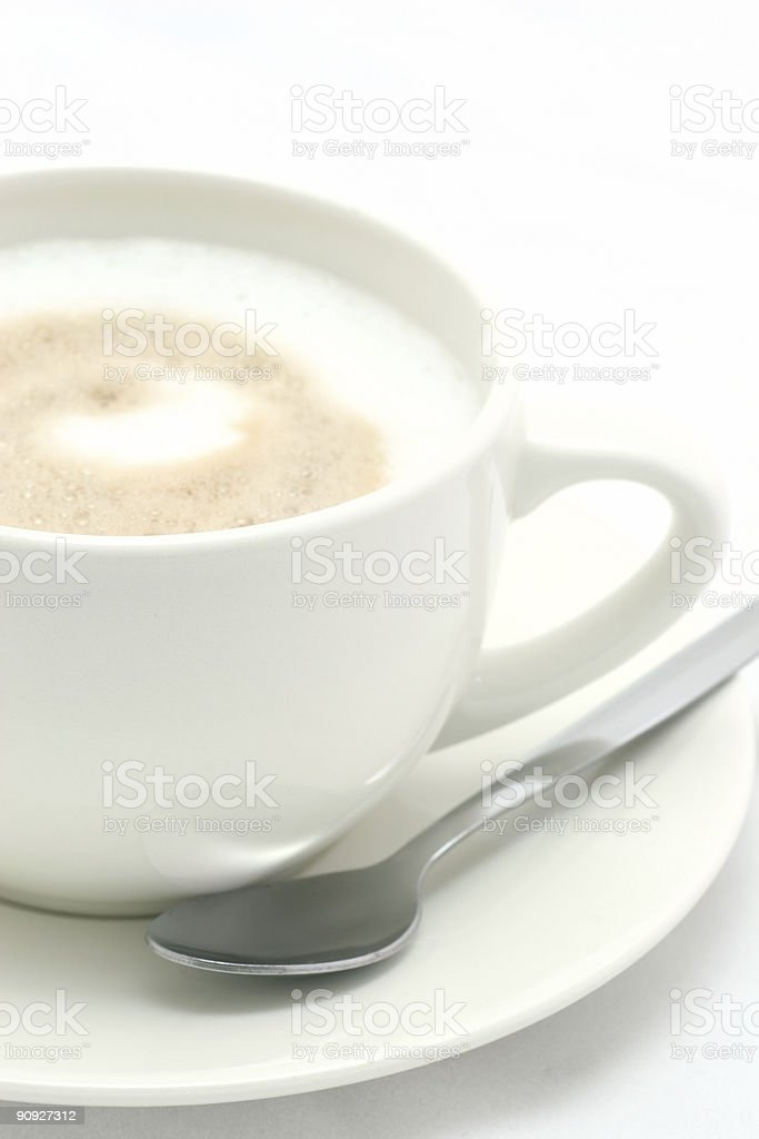 Café au lait - Close up royalty-free stock photo