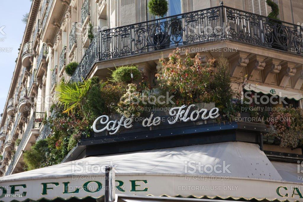 Café de Flore in Paris, France royalty-free stock photo