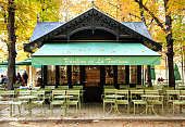 istock Café of the Luxembourg garden, Paris 523262887