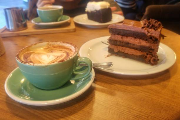 Café y chocolate stock photo