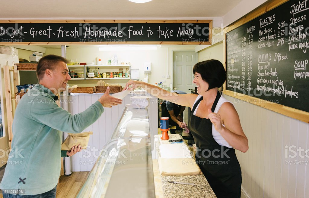 Cafe and sandwich bar stock photo