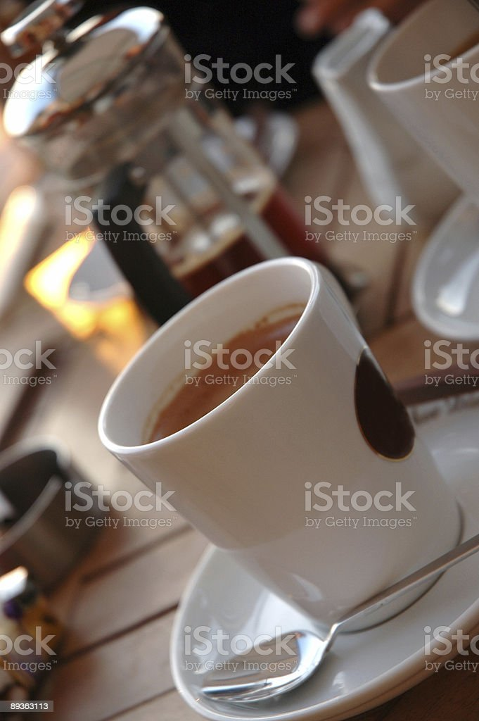 Cafe at cafetime royalty-free stock photo