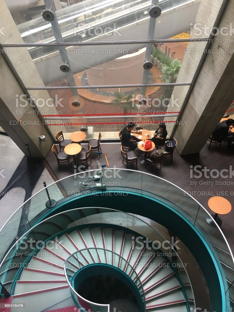 Cafe at Charles de Gaulle Airport, Paris, France stock photo