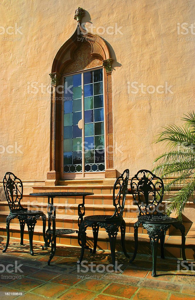 Cafe at Ringling Museum royalty-free stock photo