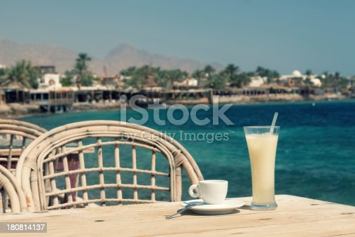 1078505838 istock photo Cafe at the promenade 180814137