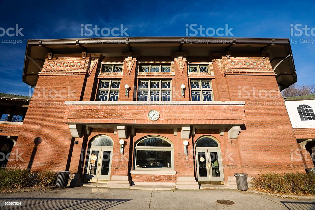 Cafe Brauer, Lincoln Park, Chicago royalty-free stock photo