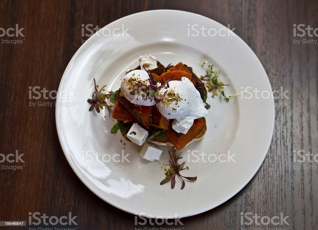 Cafe Breakfast stock photo