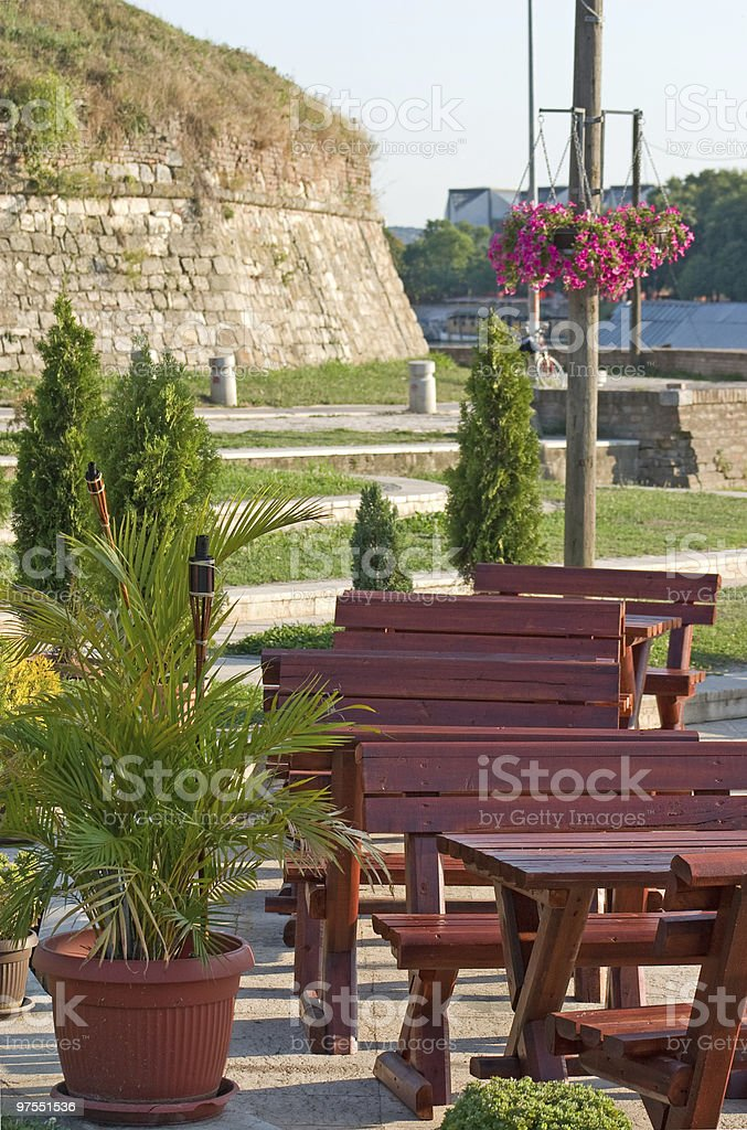 Cafe by river royalty-free stock photo