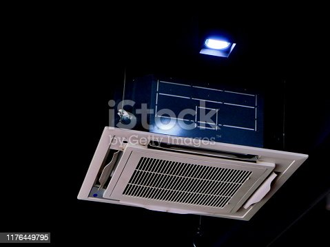 Japan, Air Conditioner, Ceiling, Color Image, Dirty