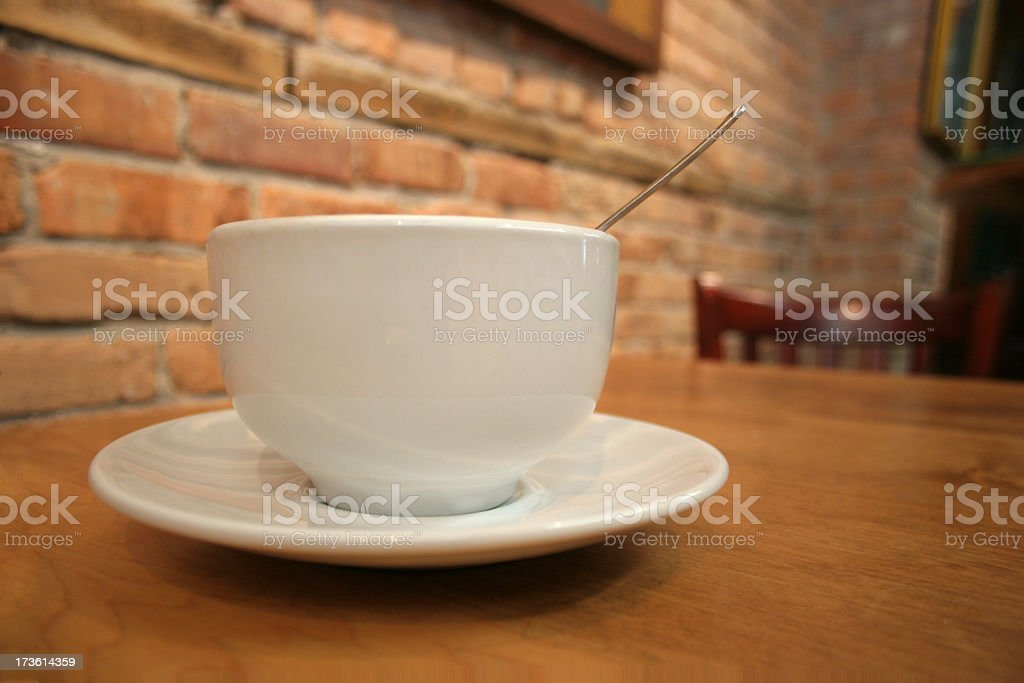 Cafe Coffee Cup with Spoon royalty-free stock photo