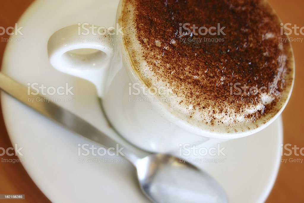Cafe Coffee with Teaspoon royalty-free stock photo