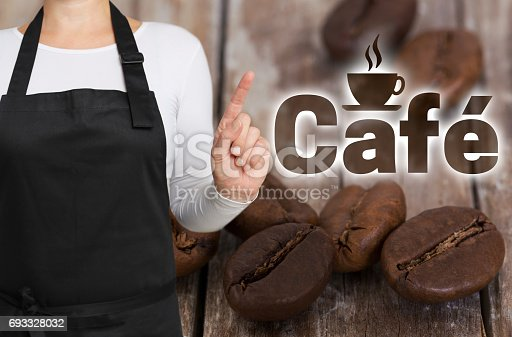 istock Cafe concept is shown by coffee roaster 693328032