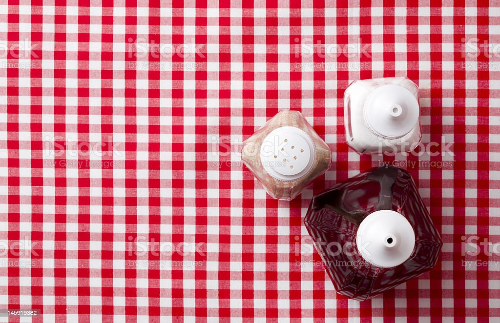 Cafe condiments stock photo