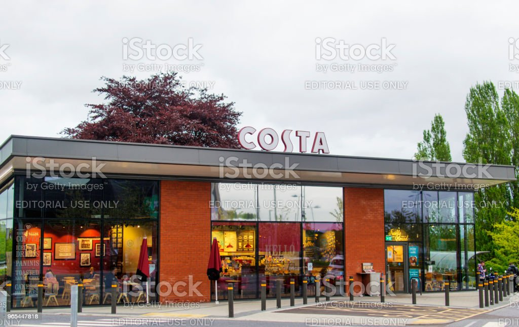 Cafe Costa Outlet zbiór zdjęć royalty-free