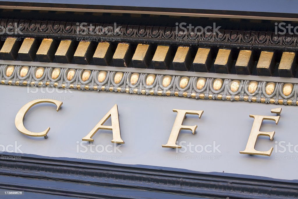 Cafe Fascia Lettering royalty-free stock photo