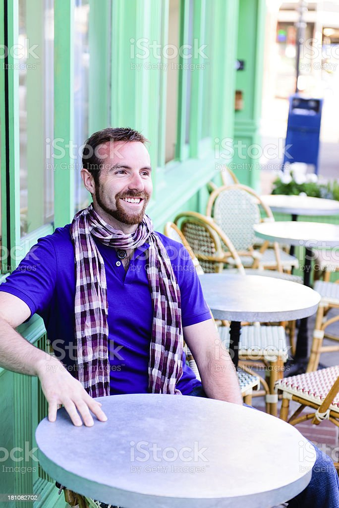 Cafe - Happy Male royalty-free stock photo
