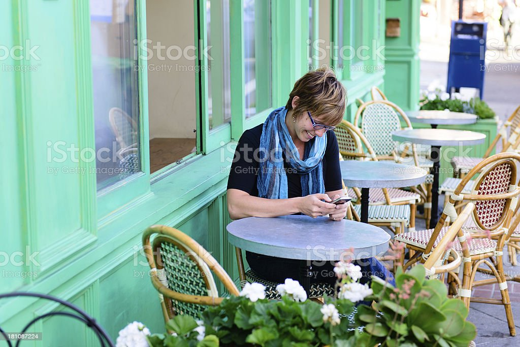 Cafe - Happy Text royalty-free stock photo
