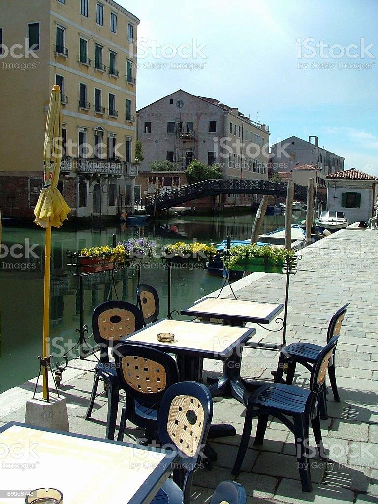 Cafe in Venice stock photo