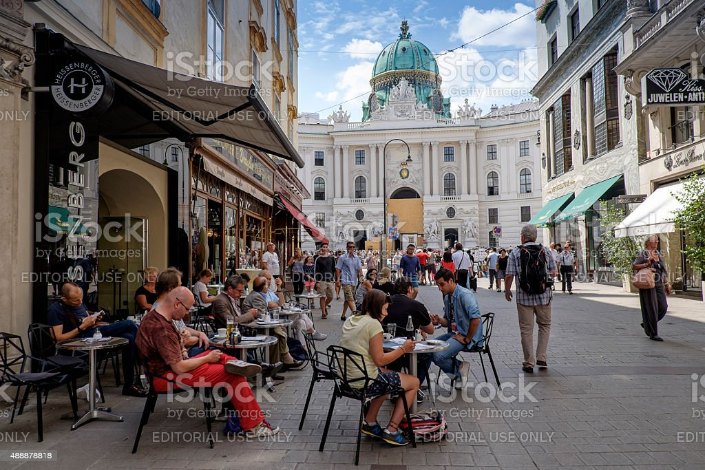 Cafe in Vienna stock photo