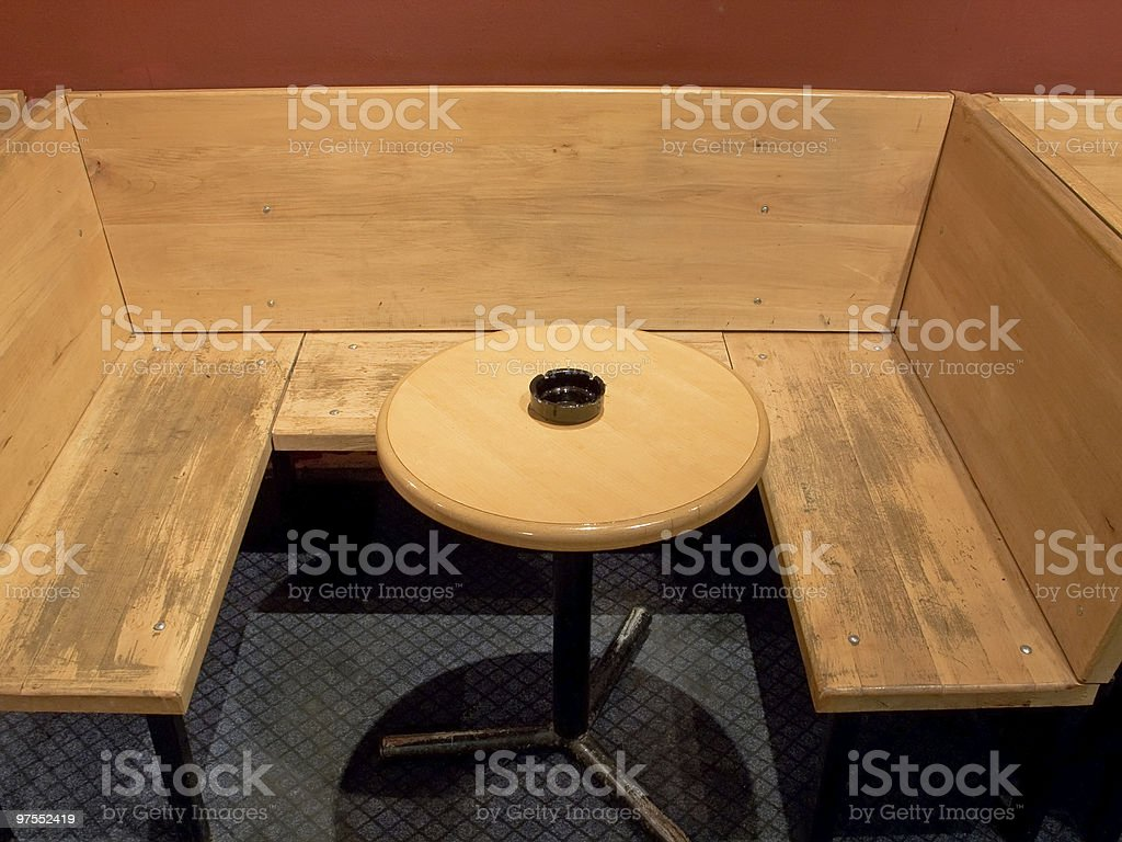 Cafe interior in smoking area royalty-free stock photo