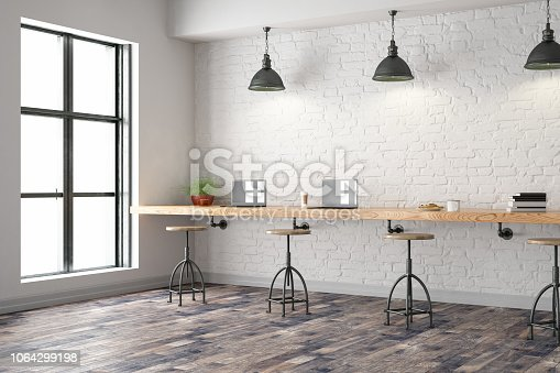 istock Cafe Interior with Laptops 1064299198