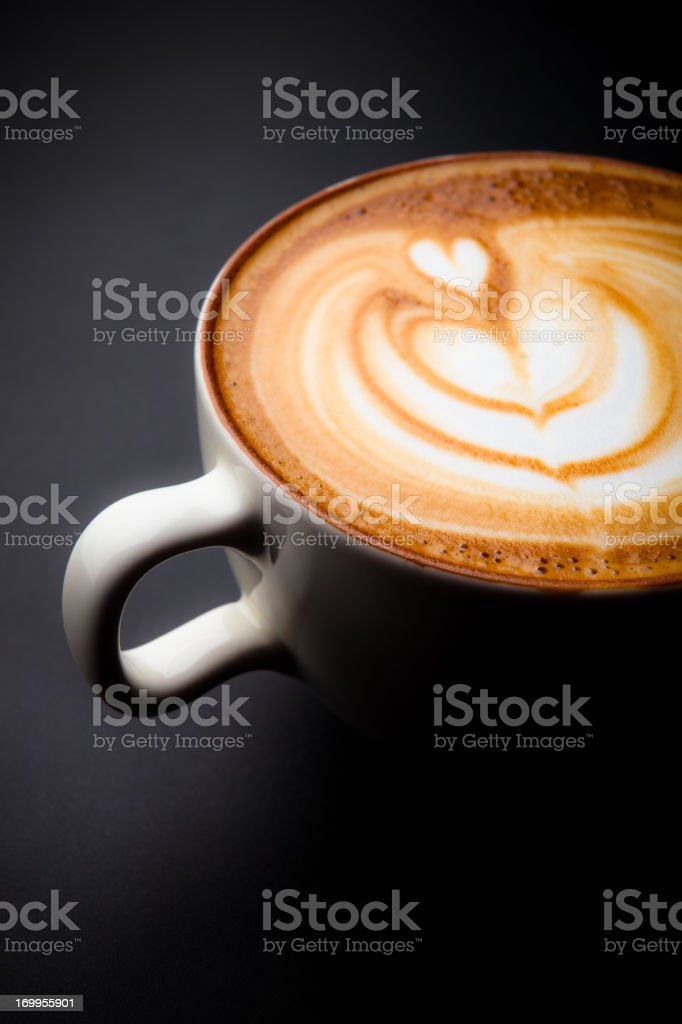 Cafe Latte Art with a Heart stock photo