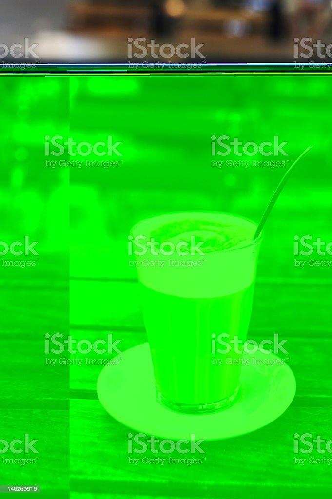 Cafe Latte in Copenhagen stock photo