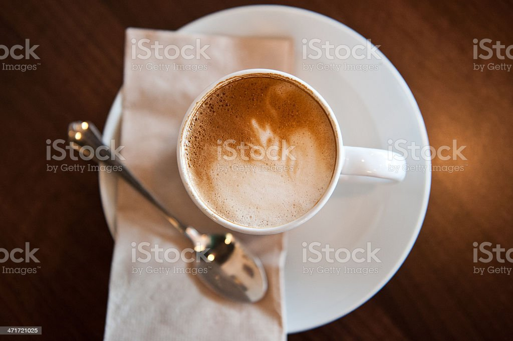 Cafe latte stock photo